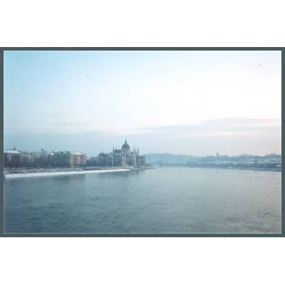 Budapest Holiday / Vacation Apartment: Budapest Danube view across the Danube in the snow